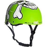 AWE® MEET YOUR MAKER™ BMX Verde 55-58cm del casco REEMPLAZO LIBRE de 5 AÑOS del CRASH *