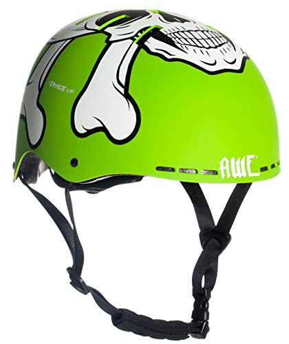 AWE® MEET YOUR MAKERTM BMX Casco verde 55-58cm SOSTITUZIONE DI CRASH GRATIS 5 ANNI *