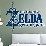 Dalxsh Gioco Wall Sticker For Kids Room Decoration La Leggenda Di Zelda Breath Of The Wild Decal Nursery Bedroom Decor 42X55Cm