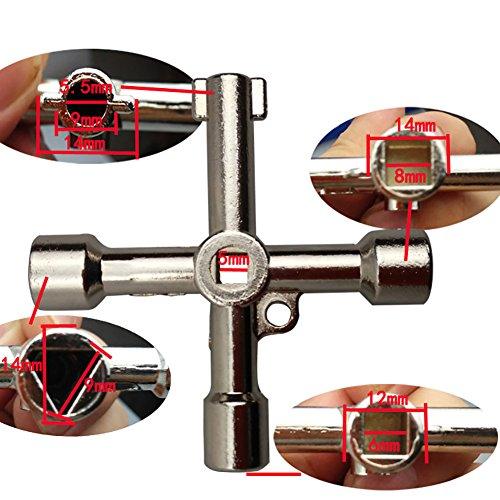 MXTBY 4in1cross Schaltschränke Schlüsselschlüssel Stapelkopf Dreieck Quadrat Kontrollinstrumente