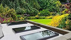 Flat Roof Skylight Lantern Rooflight Glazed 1000mm x 1000mm