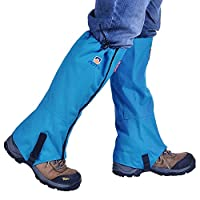 Esoes Waterproof Leg Gaiters,Anti-Tear Outdoor Snow Boot Gaiters Cover for Hiking Mountaineering Fishing Backpacking Hunting (Blue)