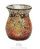 Duftlampe, Glas/Mosaik, gold-beige