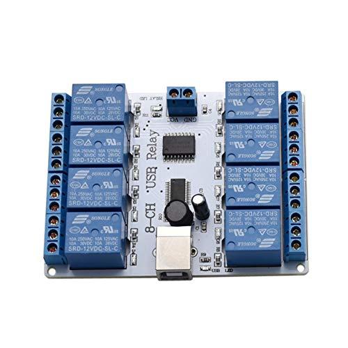 MXECO SainSmart 12V Módulo de relé USB de 8 Canales Optoacoplador para Arduino Robotics