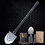 XIUFEN Outdoor Camping Adventures Entrenching Tool Multi Function Stainless Steel Engineer Shovel with Waist Bag