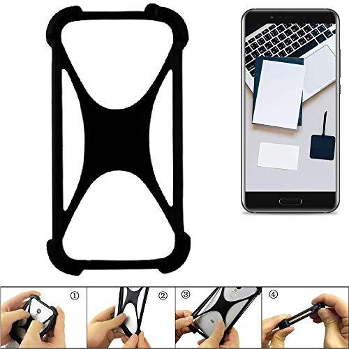 K-S-Trade Handyhülle für Blackview P6000 Schutz Hülle Silikon Bumper Cover Case Silikoncase TPU Softcase Schutzhülle Smartphone Stoßschutz, schwarz (1x)