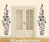 """das-label Wandtattoo Blumenranke """"clfrieze_012"""" Blumen, Ranke, Rosen, Hibiskus in 4 Größen schwarz, Größe L"""