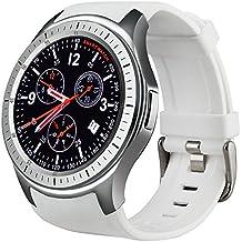Elikliv WiFi Smart Watch IOS Android 5.1 Bluetooth Handgelenk 3G GSM GPS SIM Herzfrequenz Monitor Goggle Voice Fitness Smartwatch (weiß)