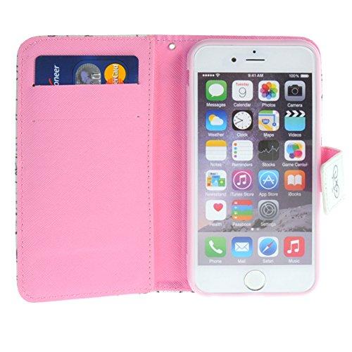 """MOONCASE pour iPhone 6 / 6S (4.7"""") Case Cuir Portefeuille Étui à rabat Case Coque en Housse de Protection YZ20 YZ15 #1228"""