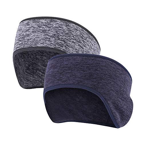 MiSha Stirnbänder für Sport Winter, Stirnbänder mit integriertem Ohrenschützer - Winter Ohrenwärmer