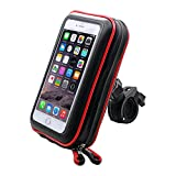 ICOOM Support Pour SmartPhone Waterproof Universel V2 Fixation Guidon Moto, Vélo, Bicyclette, Cyclisme avec Étui Imperméable pour GPS, Apple, Android, Smartphone, iPhone, Samsung Galax (L).