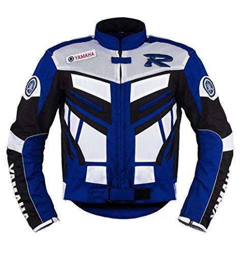 Mesh-motorrad-jacke (Yamaha Blau Motorrad Textil Jacke ((L (EU52-54))))