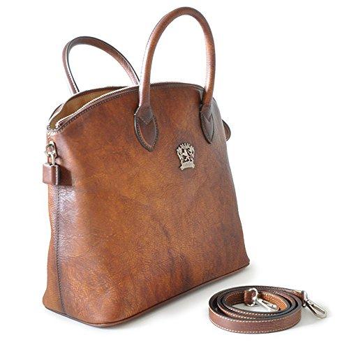 Pratesi Versilia Aged cuir italien sac fourre-tout. Sac d'épaule (marron foncé) violet