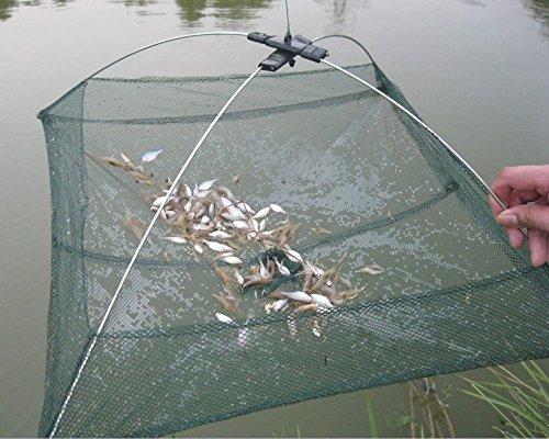 6060cm faltbar Angeln Net Garnelen Crab Trap Nylon Angeln Netzwerk Cast Net Dip Mesh Crawdad Minnow Köder Trap Angeln Netze ^.