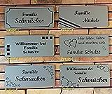 Acyl/Kunststoff Namensschild/Briefkastenschild / Türschild AUSWAHL in Farbe, Design, Schrift und Schildgröße, lieferbar in selbstklebend, oder mit Bohrungen zur Schraubmontage