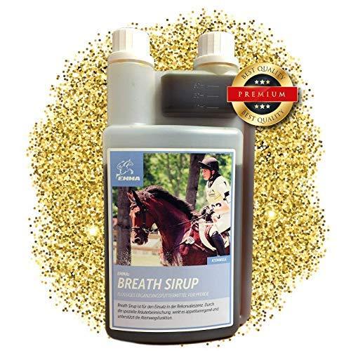 EMMA Hustensaft fürs Pferd I Bronchial Sirup I Bronchialkräuter I Atemwegskräuter Liquid I Kräuter I Staub Allergie 1 L