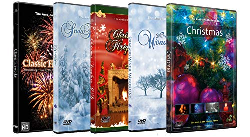and New Year Festival DVD Combo Pack - Fireplace, Fireworks and Winter Season in HD ()