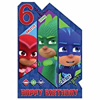 Official PJMasks Age 6 Birthday Card