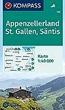 KOMPASS Wanderkarte Appenzellerland, St. Gallen, Säntis: Wanderkarte. GPS-genau. 1:40000: Wandelkaart 1:40 000 (KOMPASS-Wanderkarten, Band 112) -