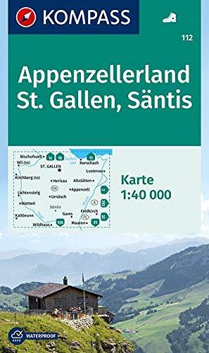 Wandern Wanderkarten (KOMPASS Wanderkarte Appenzellerland, St. Gallen, Säntis: Wanderkarte. GPS-genau. 1:40000: Wandelkaart 1:40 000 (KOMPASS-Wanderkarten, Band 112))