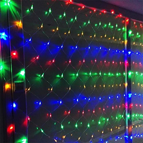 AMARS 3M*2M 200leds Garden Net String LED Lights Outdoor Waterproof Indoor 8 Modes Christmas Fairy Lights Mains Powered for Bedroom, Patio, Party, Wall, Ceiling, Wedding, Living Room (Multicolored)