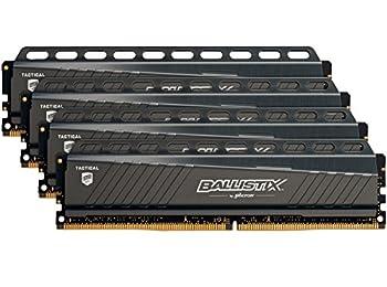 Ballistix Tactical 64GB Kit (4 x 16GB) DDR4-3000 Ram