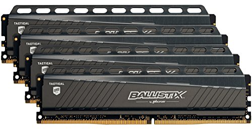 Ballistix Tactical BLT4C8G4D30AETA 32 GB Kit (8 GBx4) Memorie, DDR4, 3000 MT/s, PC4-24000, DR x8, DIMM, 288-Pin