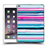 Head Case Designs Offizielle Ninola Ombrierte Streifen Pink Wasserfarben Soft Gel Hülle für iPad Air 2 (2014)