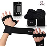 Oxofit Heavy Duty Ventilated Padded Gloves for Men & Women   Extra Grip with Full Palm Protection   Wrist Wrap Support for Weight-Lifting, Gym, Pull-Ups, Cross-fit Training, Home Workout & Exercise 