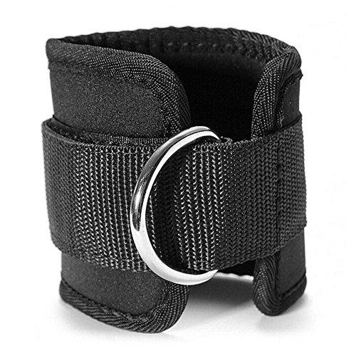 Romancy Sports Fußschlaufe (4Stück) verstellbar Ankle Straps Fitness Knöchel D-Ring