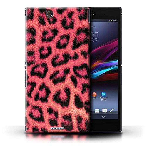 KOBALT® Hülle Case für Sony Xperia Z Ultra | Rosa Entwurf | Leopard Tier Haut/Print Kollektion (Xperia Z Fällen Leoparden-print)