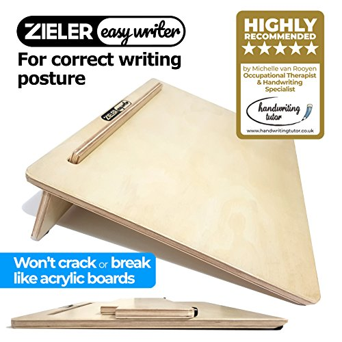 Ergonomischer Schreibblock aus Holz. Große A3-Größe mit 20-Grad-Winkel. Rutschfest. Von ZIELER