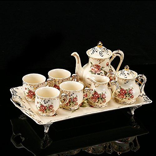 Fuf.mcl la tazza di caffè confezionata set per il tè del caffè in ceramica set lussuoso il tè del pomeriggio stufa , porcellana avorio