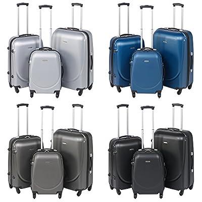 Lightweight Hard Shell 4 Wheels Suitcase - Set of 3