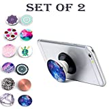 #7: Buy 1 Get 1 Free Mobile, tablet, phablet hand holder grip cum stand cum headphone / earphone wire organizer Popsocket Organiser (Assorted Colors and Designs)