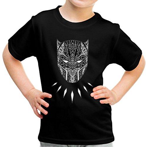 ther Mandala Tribal Mask Kid's T-Shirt (Panther-kids)