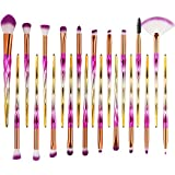 20-teiliges Make-up-Pinsel-Set, Aolvo Abdeckung Make-up Pinsel Blending Pinsel-Set für Augenbrauen, Eyeliner, Lidschatten, Foundation, Make-up-Pinsel