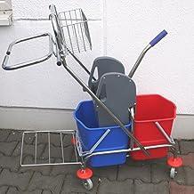 Carro doble cromo con cofre, cesto y basura sackh Projector 2x 17l)