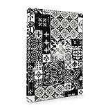 White Moroccan Ornaments Mosaic On Black Marble Dünne Rückschale aus Hartplastik für iPad Air 2 Tablet Hülle Schutzh