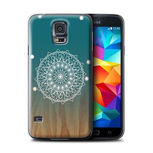 Stuff4® Hülle/Case für Samsung Galaxy S5/SV/Mandala/Holz Muster/Ombre Muster Kollektion (Galaxy S5 Holz Case Mandala)