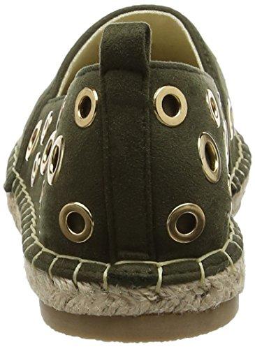 Spot On F80252, Espadrilles femme Vert - Olive