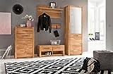 Garderobenschrank, Garderobe, Garderobenmöbel, Garderobenset, 5-teilig, Flurmöbel, Flurschrank, Garderobenschrank, Glurgarderobe, Wildeiche, massiv