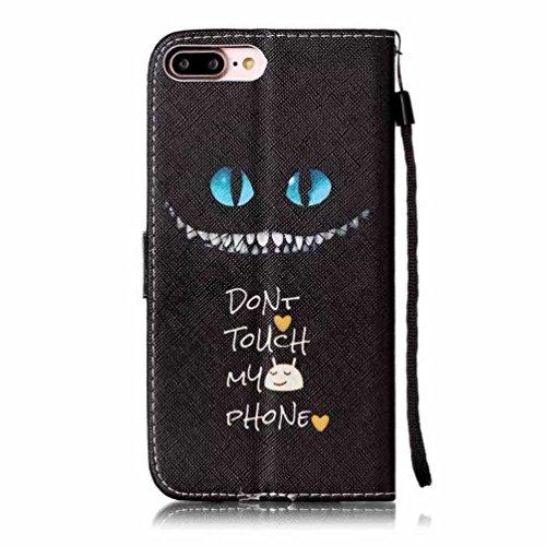 Coloré Motif PU Cuir portefeuille Housse Etui pour iPhone 7 Plus (5,5 pouces) Case Coque Protection Flip Cover avec carte de crédit Slots (Y05#) Y04#