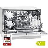 Bomann TSG 708 Table Lave-vaisselle/A + / 174 kWh/an / 6 MGD / 1820 L/an/Commande de programme électronique / 6 couverts/blanc.
