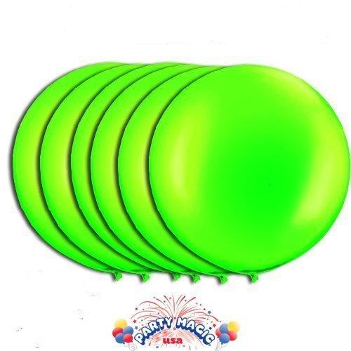 36 Inch Latex Balloon Lime Green (Premium Helium Quality) Pkg/6 by PMU (Green Balloons Lime)