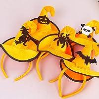Wafalano Cabeza Hebilla, Colorido Bruja Esqueleto Sombrero Hebilla Ganchos de Navidad Cabeza Hebilla Accesorios de Halloween Traje de Moda Vestir Accesorios