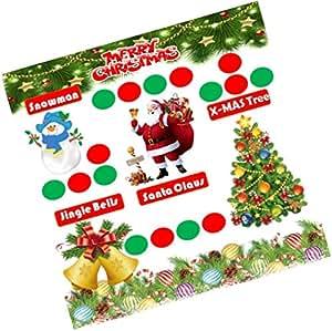 Party Stuff Christmas Theme Tambola Housie Tickets - Christmas kukuba 16 - Designer Kukuba (12 Cards)   Kitty Games