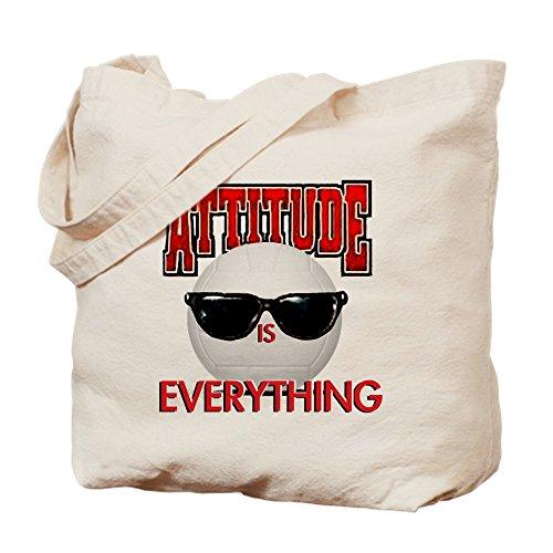 CafePress - Attitude is Everything - Naturleinen-Einkaufstasche aus Stoff