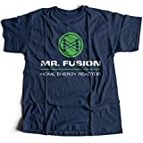 9036n Mr Fusion Herren T-Shirt Hill Valley Biff Co Flux Capacitor Emmet Brown Scooter(Small,Navy)
