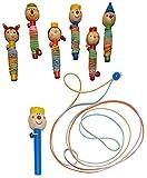 3 Stück: Gummitwist - für Mädchen - Hüpfspiel / Hüpfgummi - Gummitwister & Gummihüpfen / Kinderspiel - Bewegungsspiel Geschicklichkeit - Sportspiel - Innen & Draußen